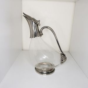 Vintage royal crystal rock duck decanter